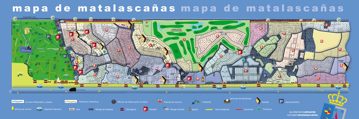 mapa matalascanas espanha Mapa de Matalascañas, matalascañas mapa de la ciudad mapa matalascanas espanha